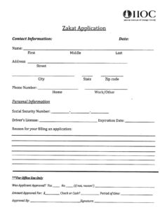 Zakat Application
